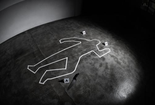 女「Crime scene」:スマホ壁紙(7)