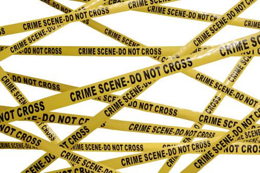 英字「Crime Scene Tape」:スマホ壁紙(19)
