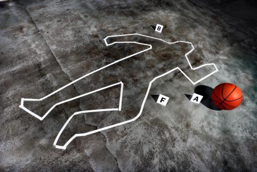 雪「Crime scene - Death of a basketball player」:スマホ壁紙(8)