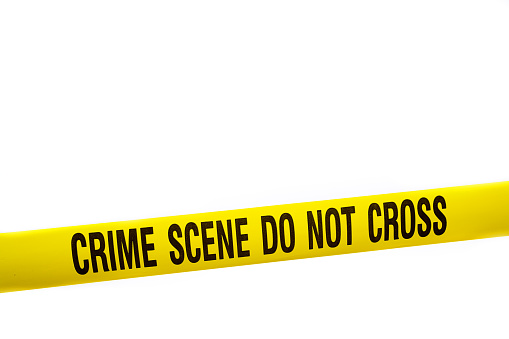 Roped Off「Crime Scene Tape with Clipping Path」:スマホ壁紙(12)