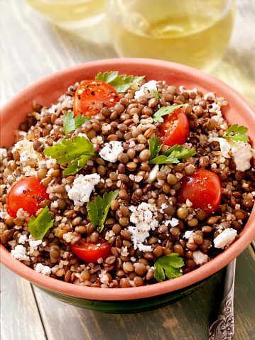 Spinach「Lentil and Bulgur Salad with Feta and Fresh Spinach」:スマホ壁紙(14)