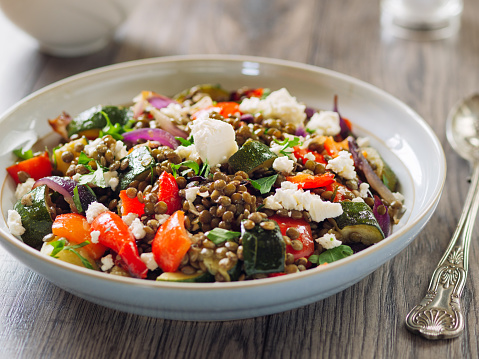 Thyme「Lentil and roasted vegetable salad with feta cheese」:スマホ壁紙(17)