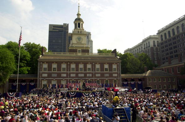 Philadelphia - Pennsylvania「President Bush Speaks in Philadelphia on Independence Day」:写真・画像(10)[壁紙.com]