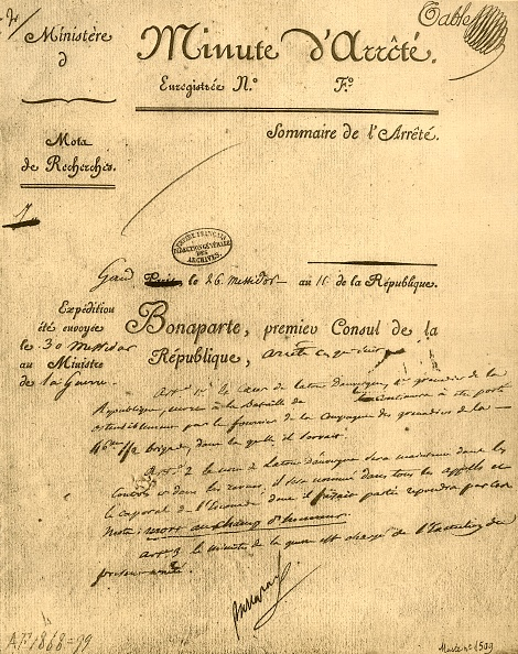 Document「Ministerial Order On The Subject Of La Tour Dauvergne」:写真・画像(9)[壁紙.com]
