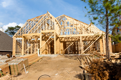 Prefabricated Building「New Home construction in growing subdivision」:スマホ壁紙(3)
