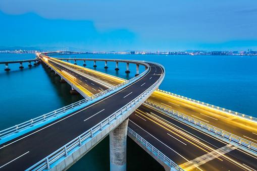 交通量「Jiaozhou Bay Bridge of Qingdao,Shandong Province,China 」:スマホ壁紙(3)