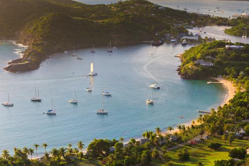 Antigua & Barbuda「English Harbour from Shirley's Heights」:スマホ壁紙(5)