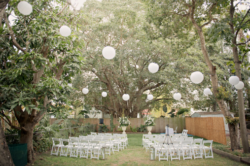 結婚「Wedding ceremony outdoor garden」:スマホ壁紙(6)