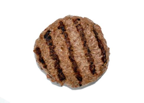 Fast Food「Grilled hamburger patty isloated」:スマホ壁紙(1)