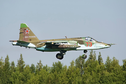 Russian Military「Russian Air Force Su-25SM landing in Ryazan, Russia, after a mission during exercise Aviadarts 2016.」:スマホ壁紙(14)