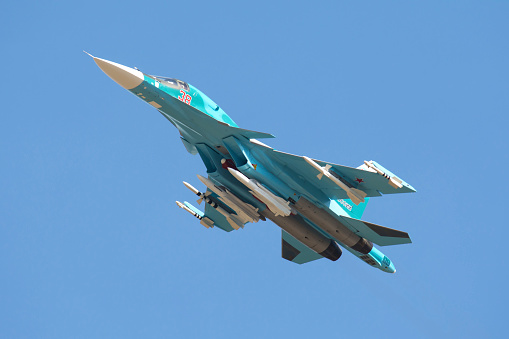 Russian Military「A Russian Air Force Su-34 in flight over Russia.」:スマホ壁紙(2)
