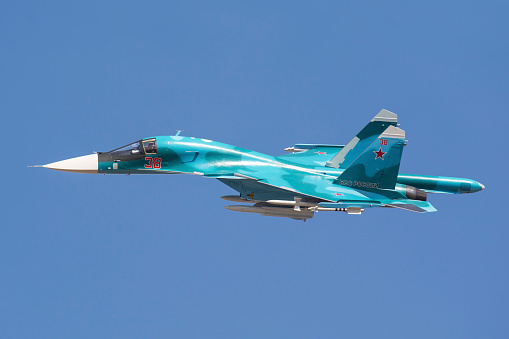 Russian Military「A Russian Air Force Su-34 in flight over Russia.」:スマホ壁紙(13)
