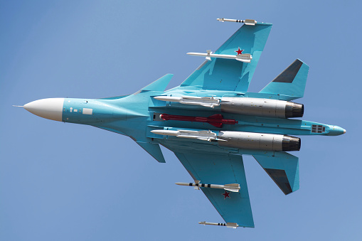 Russian Military「A Russian Air Force Su-34 in flight over Russia.」:スマホ壁紙(3)