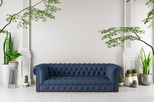 Decoration「Modern interior Sofa with Green Plants」:スマホ壁紙(16)
