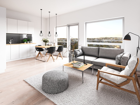 Metallic「Modern interior apartment」:スマホ壁紙(11)