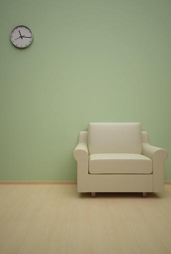 Clock「モダンなインテリアのリビングルーム」:スマホ壁紙(18)