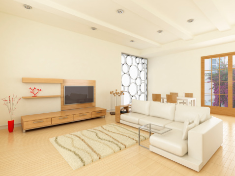 Living Room「Modern interior Livingroom」:スマホ壁紙(8)