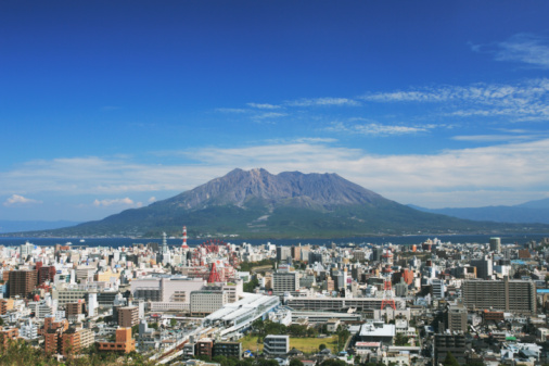 Active Volcano「Sakurajima and Cityscape of Kagoshima, Kagoshima, Kagoshima, Japan」:スマホ壁紙(14)