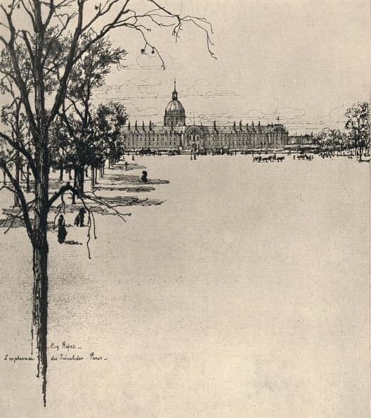 Etching「'The Esplanade of Les Invalides', 1915」:写真・画像(12)[壁紙.com]