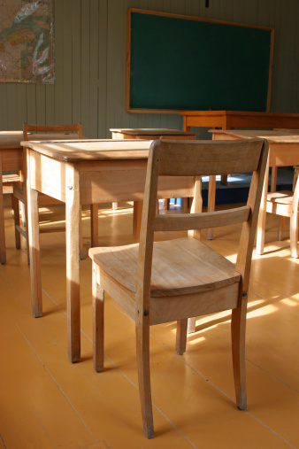 Elementary School Building「Vintage Primary Classroom」:スマホ壁紙(17)