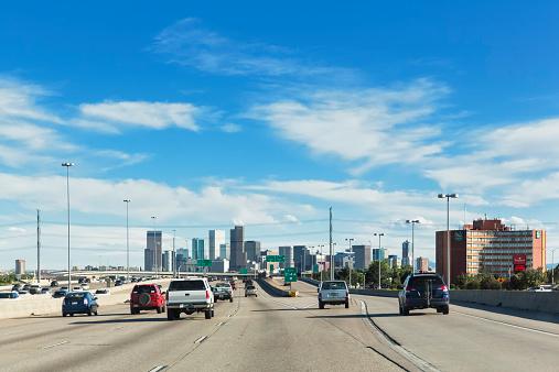 Traffic「USA, Colorado, Denver, Highway, Interstate 25」:スマホ壁紙(3)