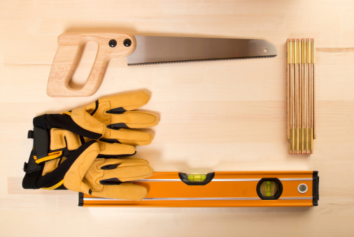 Protective Glove「Frame of Tools on Wooden Work Bench」:スマホ壁紙(4)