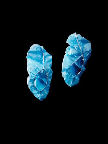 Lost「Blue surgical booties shot on black.」:スマホ壁紙(3)