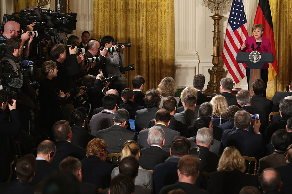 French Press「Obama And German Chancellor Merkel Hold Joint Press Conference At White House」:写真・画像(15)[壁紙.com]