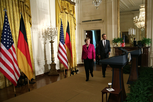 French Press「Obama And German Chancellor Merkel Hold Joint Press Conference At White House」:写真・画像(17)[壁紙.com]