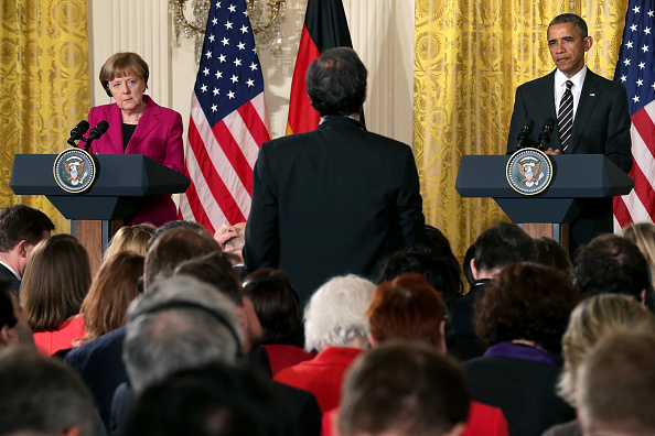 French Press「Obama And German Chancellor Merkel Hold Joint Press Conference At White House」:写真・画像(18)[壁紙.com]