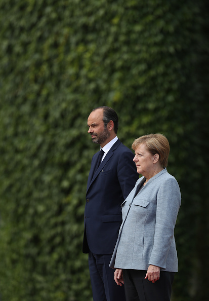 French Prime Minister「New French Prime Minister Edouard Philippe Meets With Angela Merkel」:写真・画像(4)[壁紙.com]