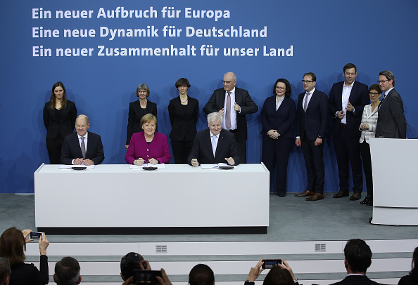 Creativity「CDU, SPD and CSU Sign Coalition Contract To Form The Next German Government」:写真・画像(3)[壁紙.com]
