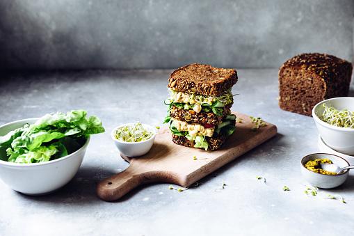 Cream - Dairy Product「Freshly prepared super vegan sandwich」:スマホ壁紙(19)