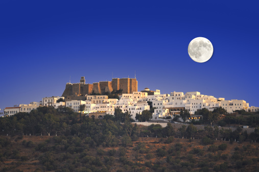 Patmos「View of Chora with full moon」:スマホ壁紙(10)