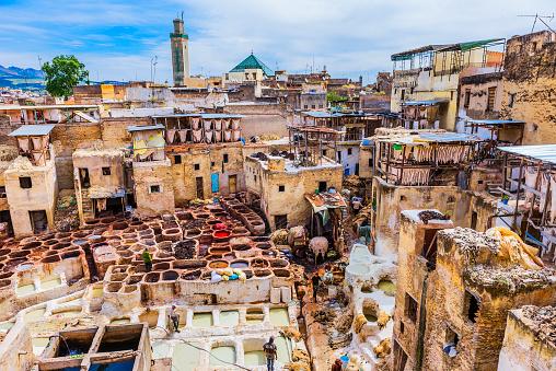 Fez - Morocco「View of Chouwara Tannery」:スマホ壁紙(2)