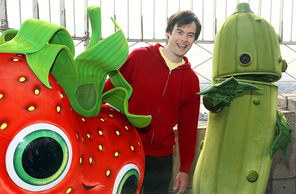 "Empire State Building「Bill Hader Visits The Empire State Building In Celebration Of ""Cloudy With A Chance Of Meatballs 2"" Release」:写真・画像(3)[壁紙.com]"