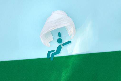 Community Outreach「medisch mondmasker die dienst doet als parachute」:スマホ壁紙(18)