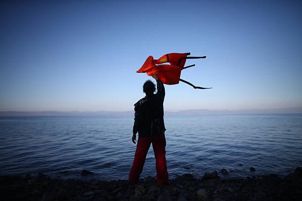 Migrants On Greece's Lesbos Island:ニュース(壁紙.com)