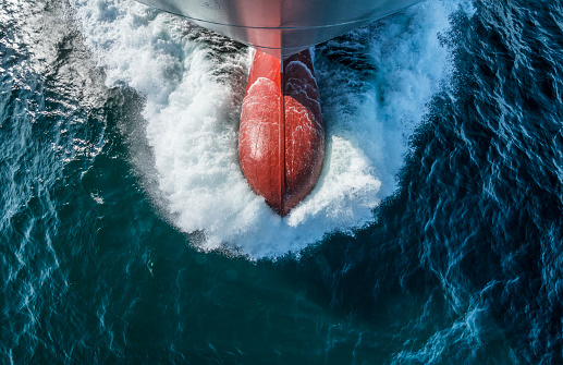 Ship「The bulbous bow of a container ship, view from above」:スマホ壁紙(12)