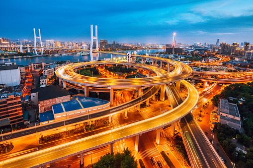 Multiple Exposure「Nanpu bridge at dusk -  Shanghai, China」:スマホ壁紙(5)