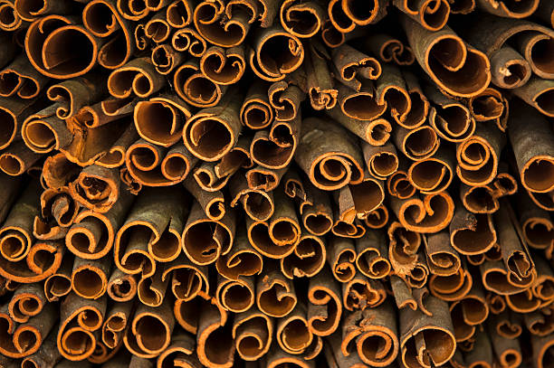 Dried cinnamon from the bark of cinnamon trees:スマホ壁紙(壁紙.com)