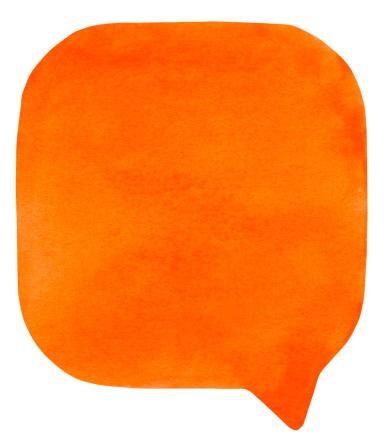 Cartoon「Orange watercolour speech bubble」:スマホ壁紙(17)