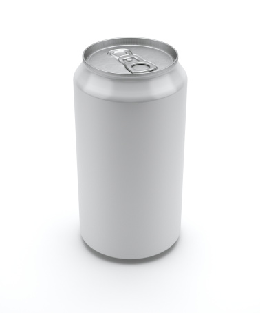 Conformity「Label-less soda can standing unopened on a white background」:スマホ壁紙(12)