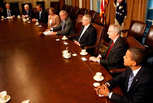 Corporate Business「Bush, McCain, Obama, Congressional Leaders Meet On Financial Crisis」:写真・画像(8)[壁紙.com]