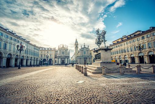 Town「Main View of San Carlo Square and Twin Churches, Turin」:スマホ壁紙(9)