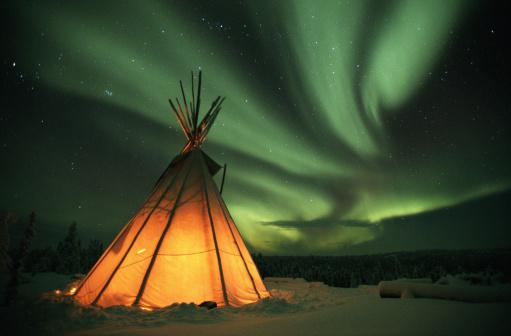 Tent「Canada, Northern Lights (Aurora borealis)」:スマホ壁紙(7)
