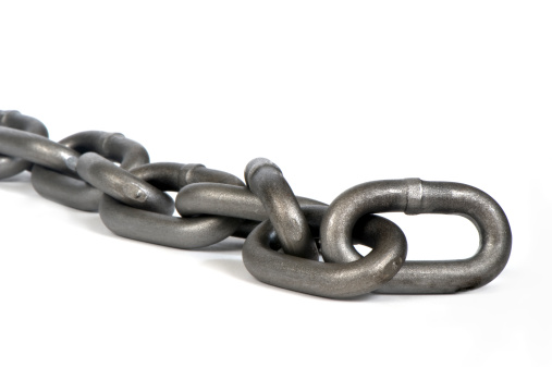 Durability「Long silver chain on white background - closeup」:スマホ壁紙(18)