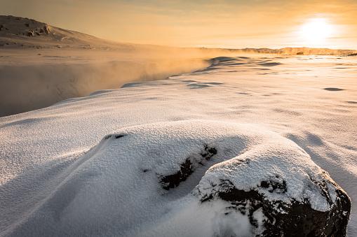 North Iceland「Selfoss Waterfall At Sunrise - North Iceland」:スマホ壁紙(8)