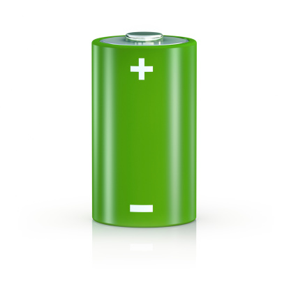 Power Supply「Big Green Battery on White Background」:スマホ壁紙(18)