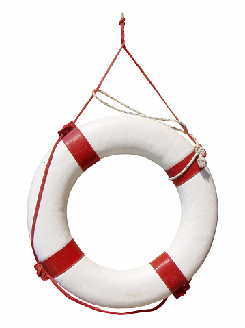 Buoy「White and red life buoy hanging up」:スマホ壁紙(13)